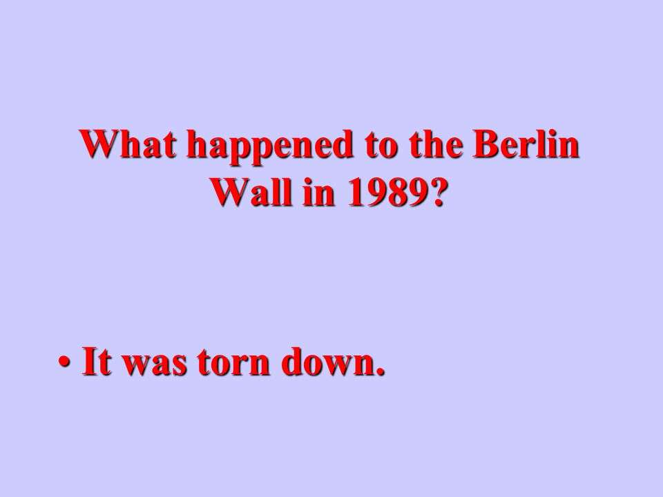 Why was the Berlin Wall built.