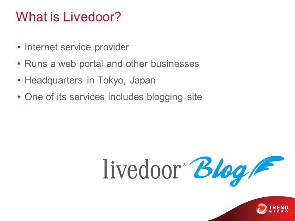 What is Livedoor.