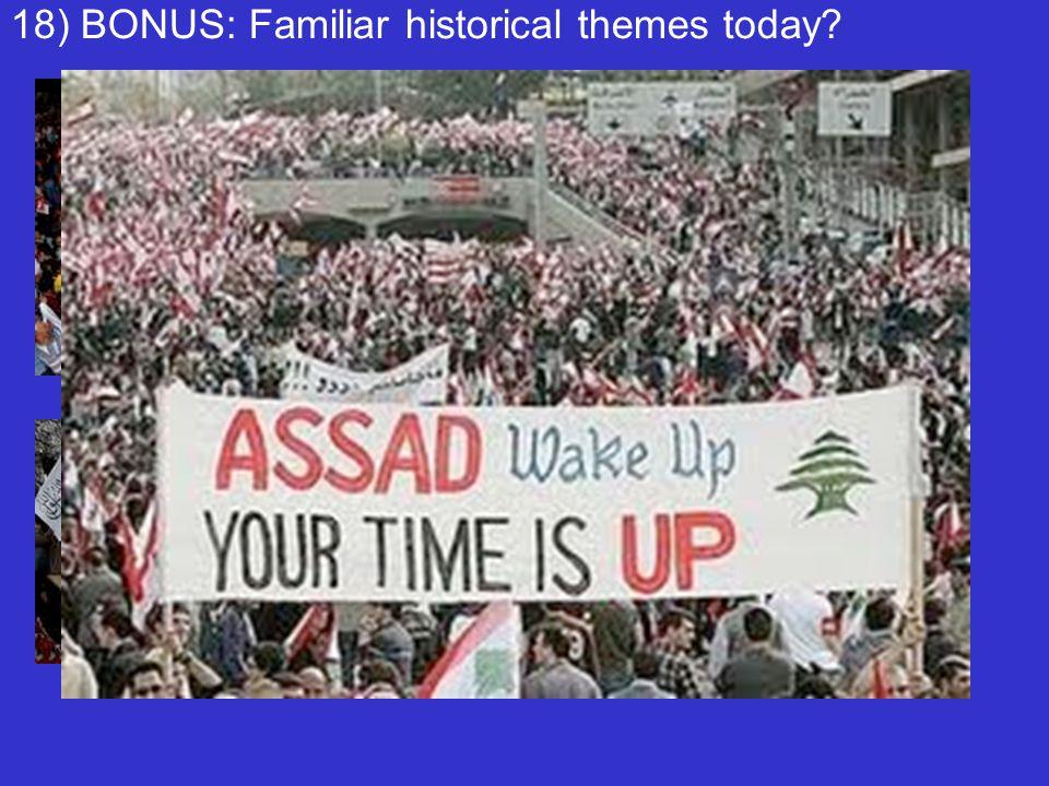 18) BONUS: Familiar historical themes today