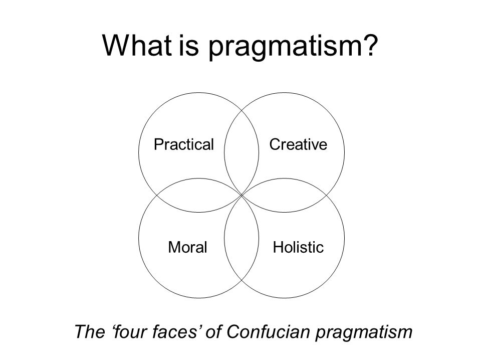 What is pragmatism PracticalCreative HolisticMoral The 'four faces' of Confucian pragmatism