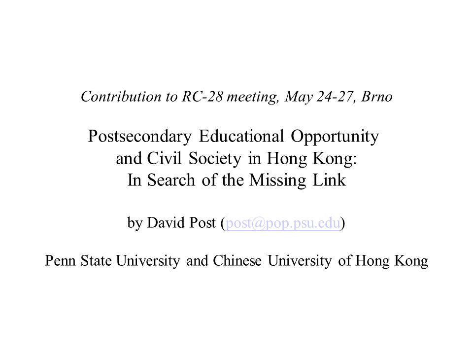 . Education Attained by Hong Kong Girls Relative to Attainment by Boys at Ages 19-20, by Census Year