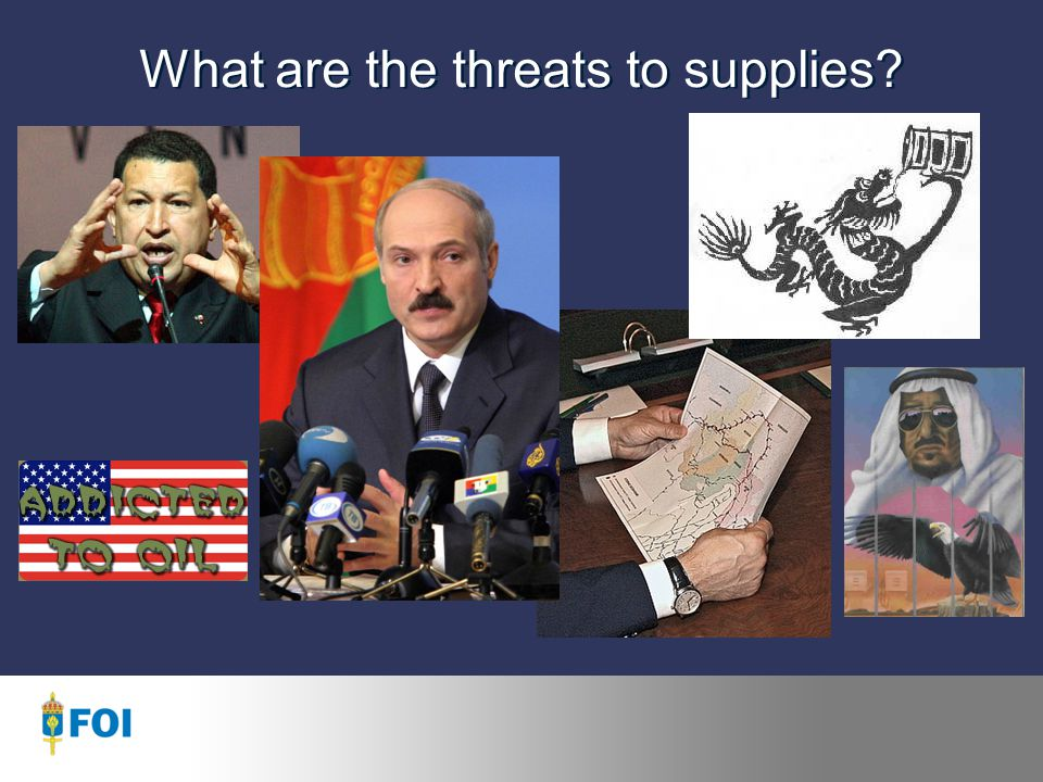 What are the threats to supplies