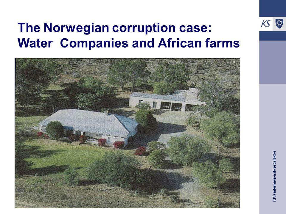 KKS internasjonale prosjekter The Norwegian corruption case: Water Companies and African farms
