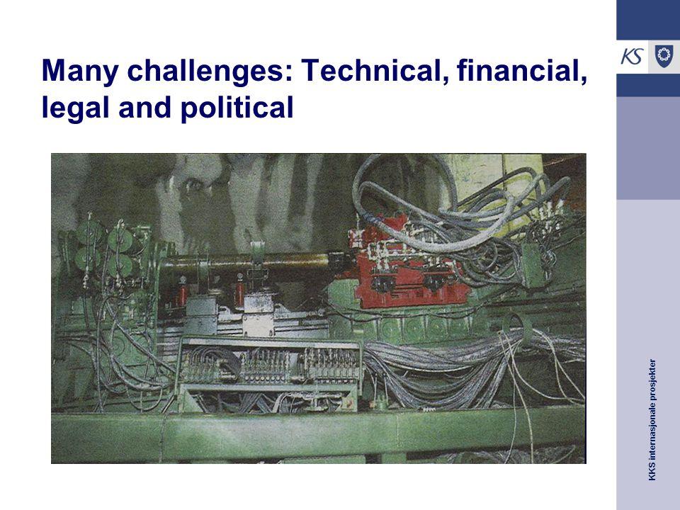 KKS internasjonale prosjekter Many challenges: Technical, financial, legal and political