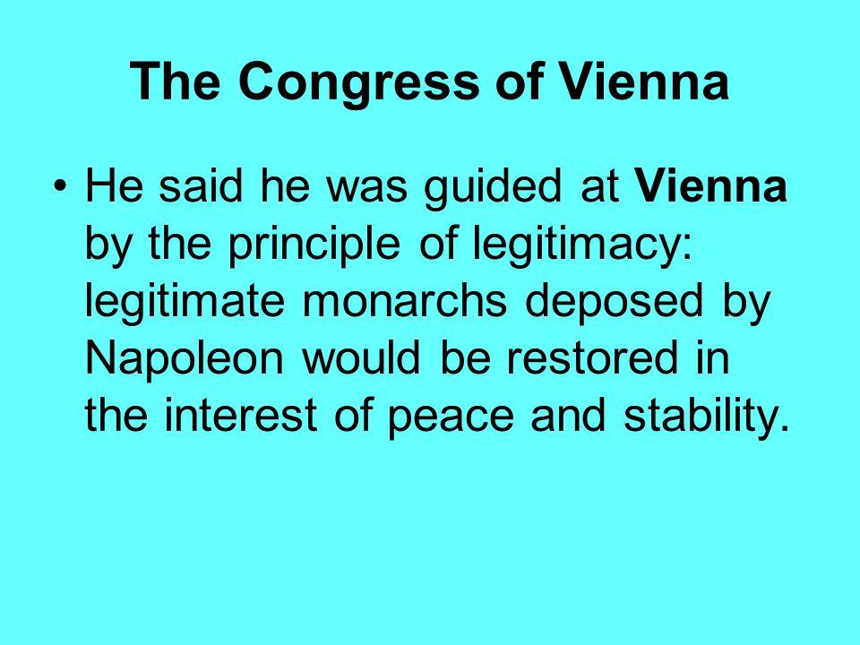 The Congress of Vienna Klemens von Metternich