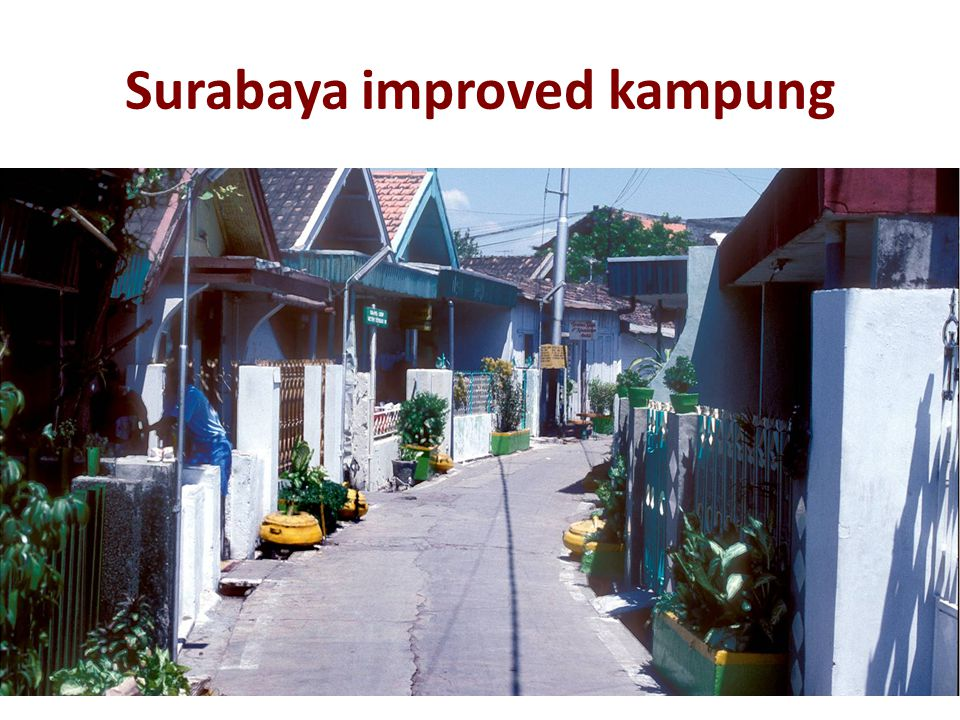 Surabaya improved kampung