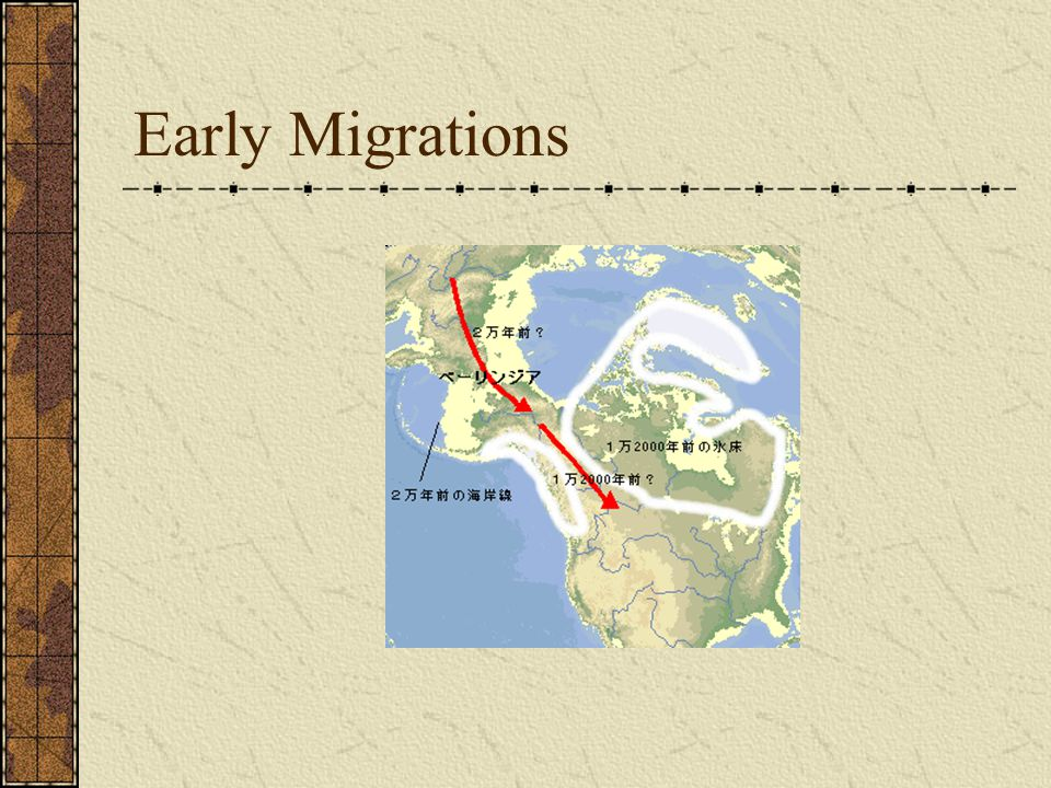 Early Migrations
