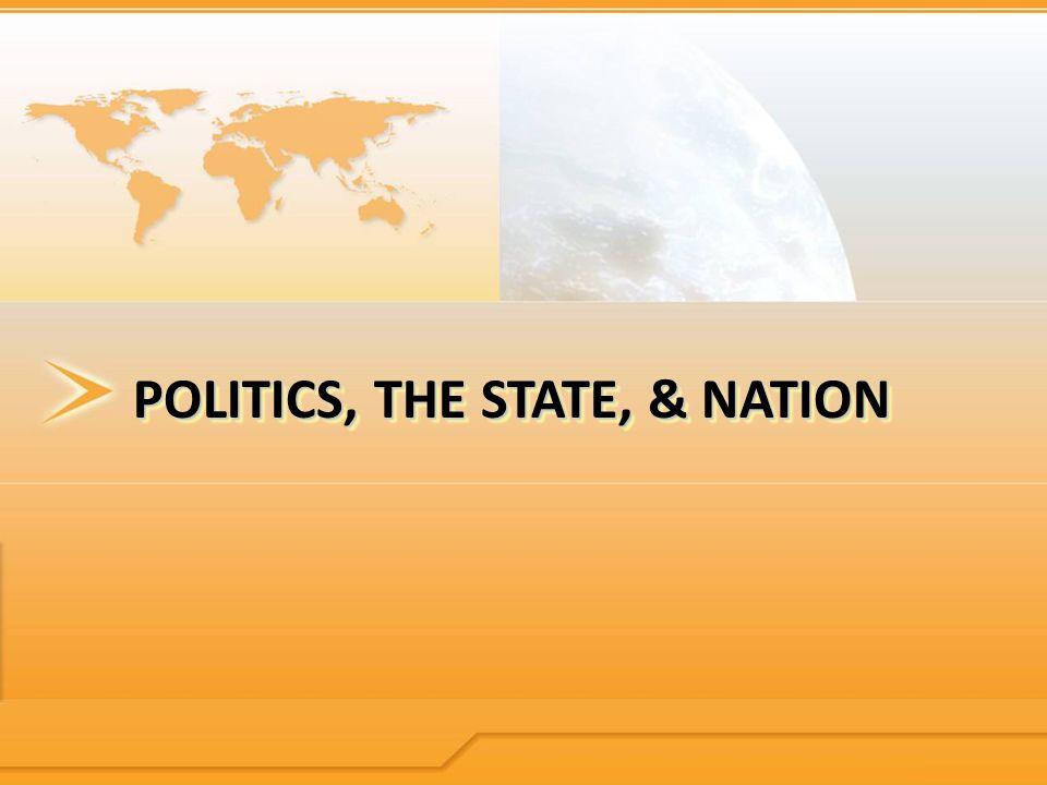 POLITICS, THE STATE, & NATION