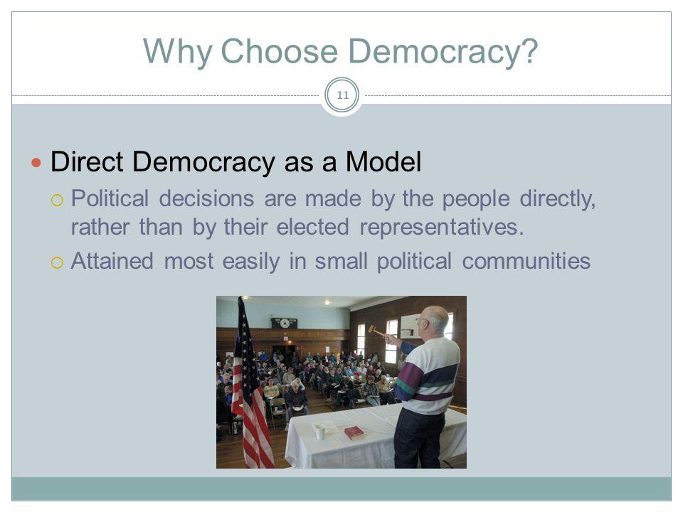 Why Choose Democracy.