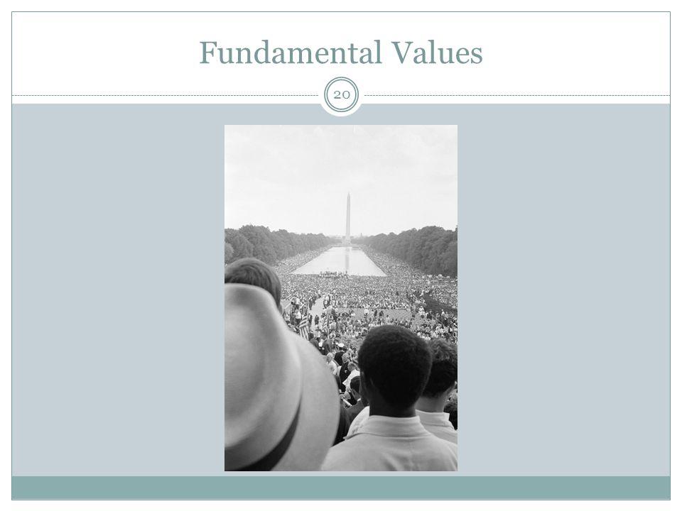 Fundamental Values 20