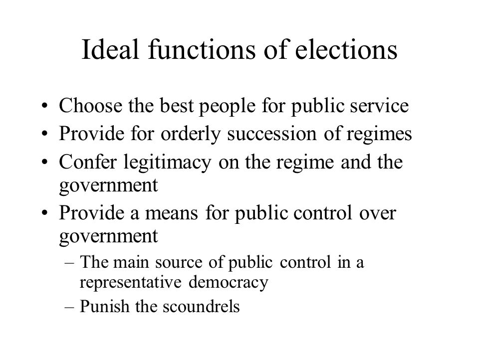 Undecideds The 'swing vote' in elections is made up largely of those persons who are relatively ill-informed, have a less-developed ideology and are swayed by late events, advertising and non-policy news They often decide the elections, though, and are a major target of candidates –Going negative can work here