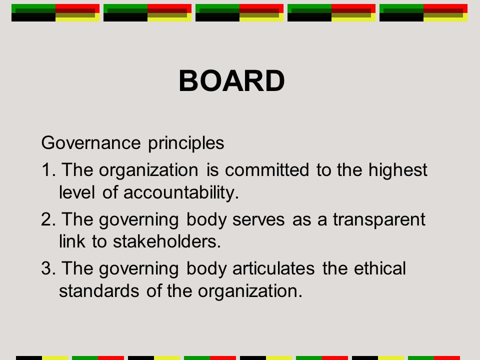 BOARD Governance principles 1.
