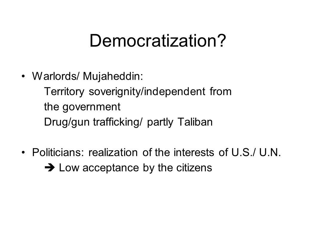 Democratization.