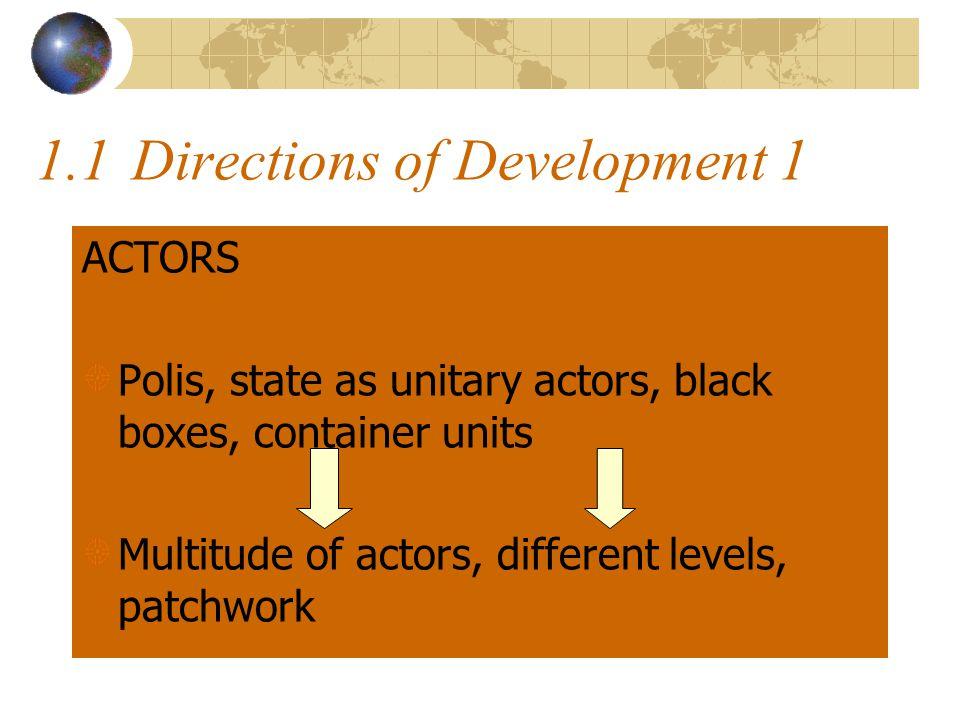 1.2 Patchwork Territories/ Regions Sectors/ FIGs Admin Groups/ Bureaucracies Social Actors Interactions