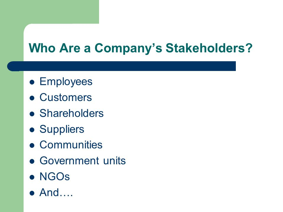 Stakeholders with all three attributes: Immediate core stakeholders have power, legitimacy, and an urgent claim.