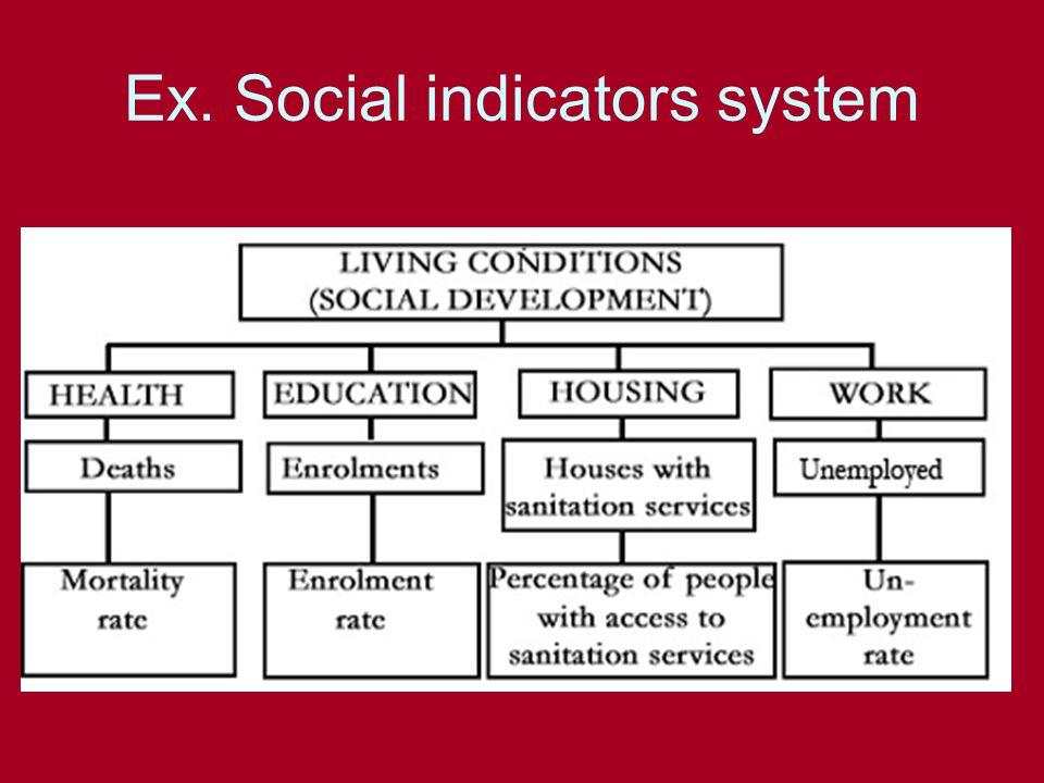 Ex. Social indicators system