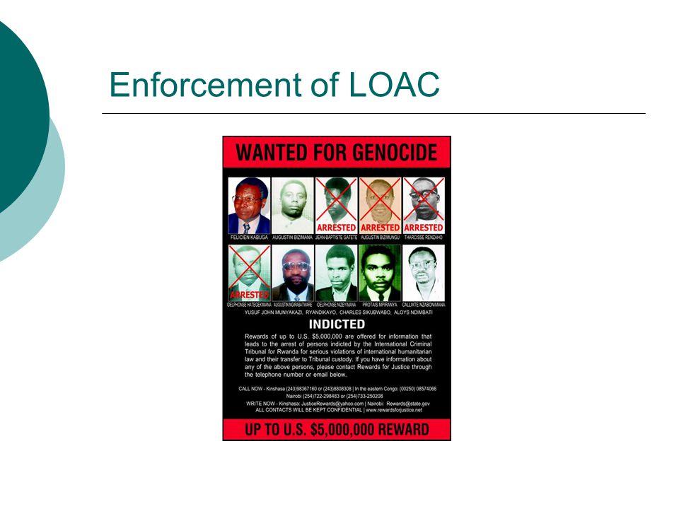 Enforcement of LOAC