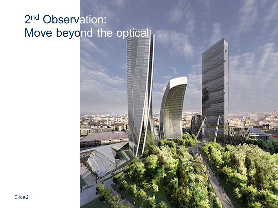 Slide 21 © CSIR 2006 www.csir.co.za 2 nd Observation: Move beyond the optical
