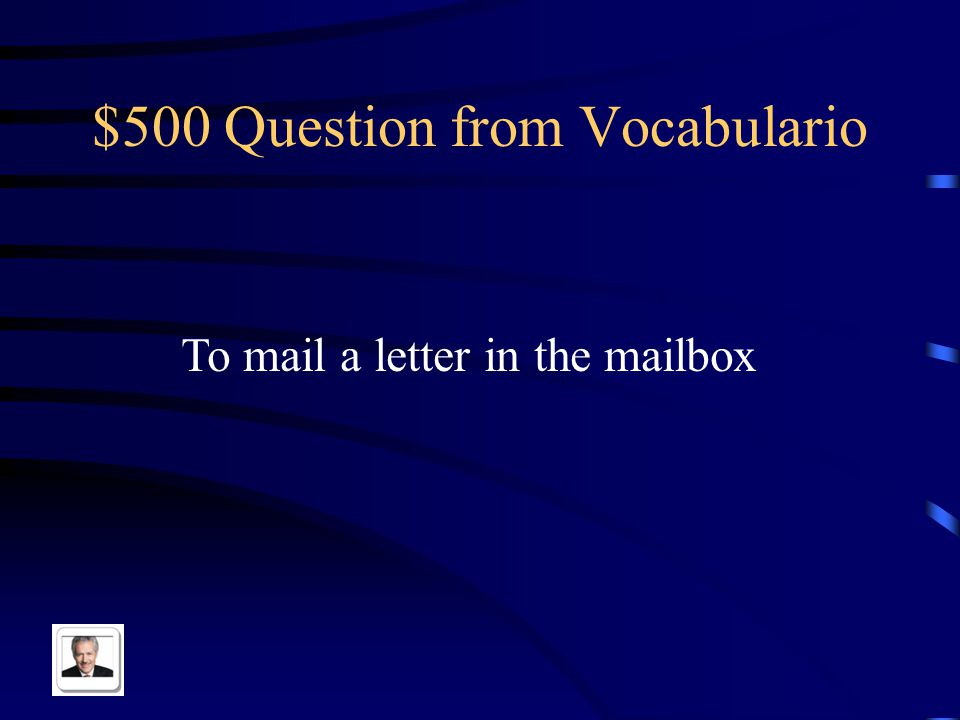 $400 Answer from Vocabulario El correo