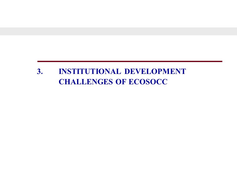 3.INSTITUTIONAL DEVELOPMENT CHALLENGES OF ECOSOCC