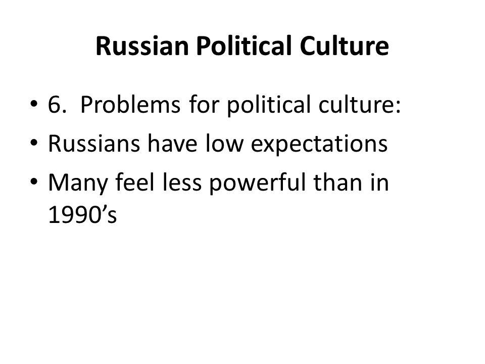 Russian Political Culture 6.