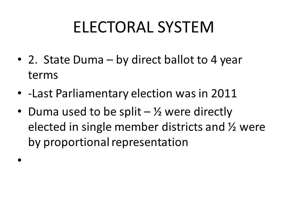 ELECTORAL SYSTEM 2.