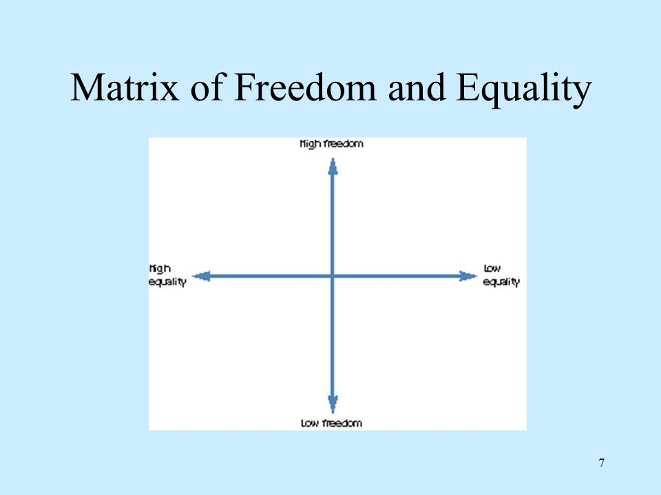 7 Matrix of Freedom and Equality