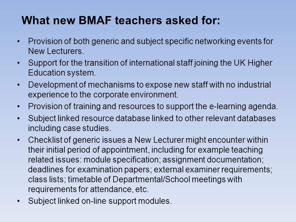 Provision of both generic and subject specific networking events for New Lecturers.