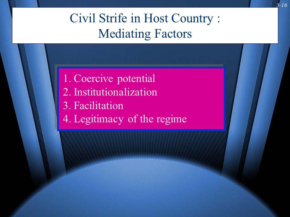 3-17 Fig 3-5: Framework for Assessing Civil Strife