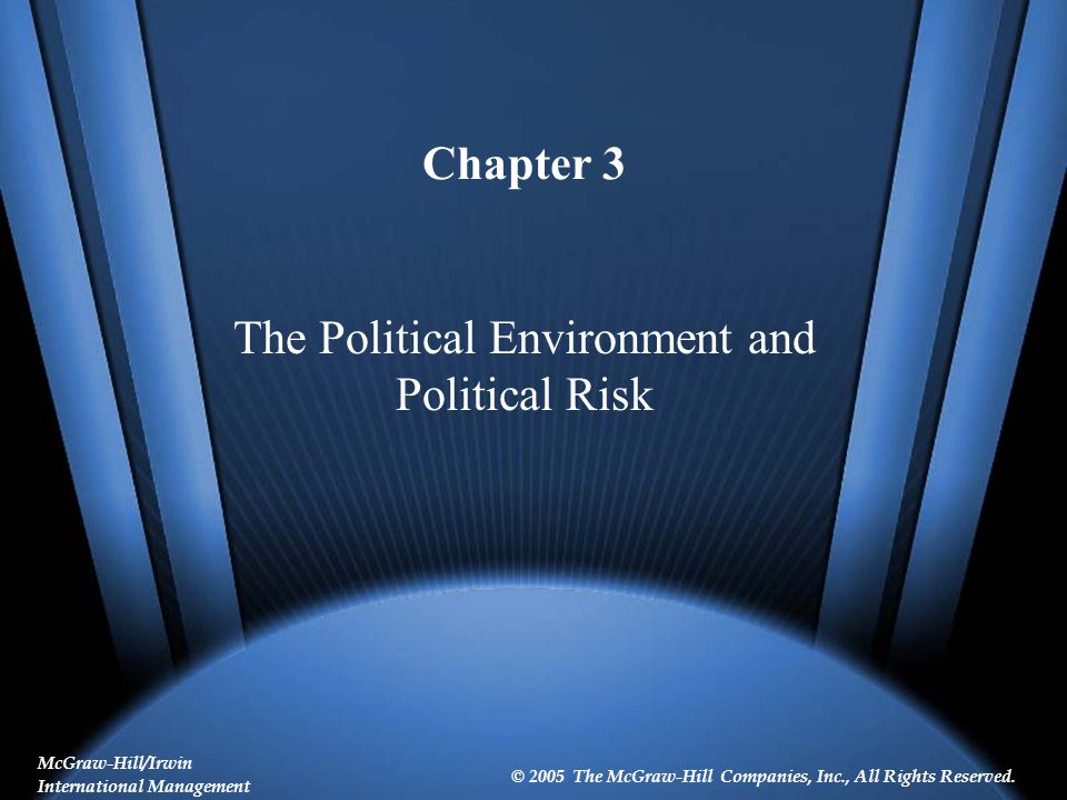 3-3 Learning Objectives Describe the components, relationships, and interactions involved in the political systems model, and explain how the one-nation model can be extended into a global business context.