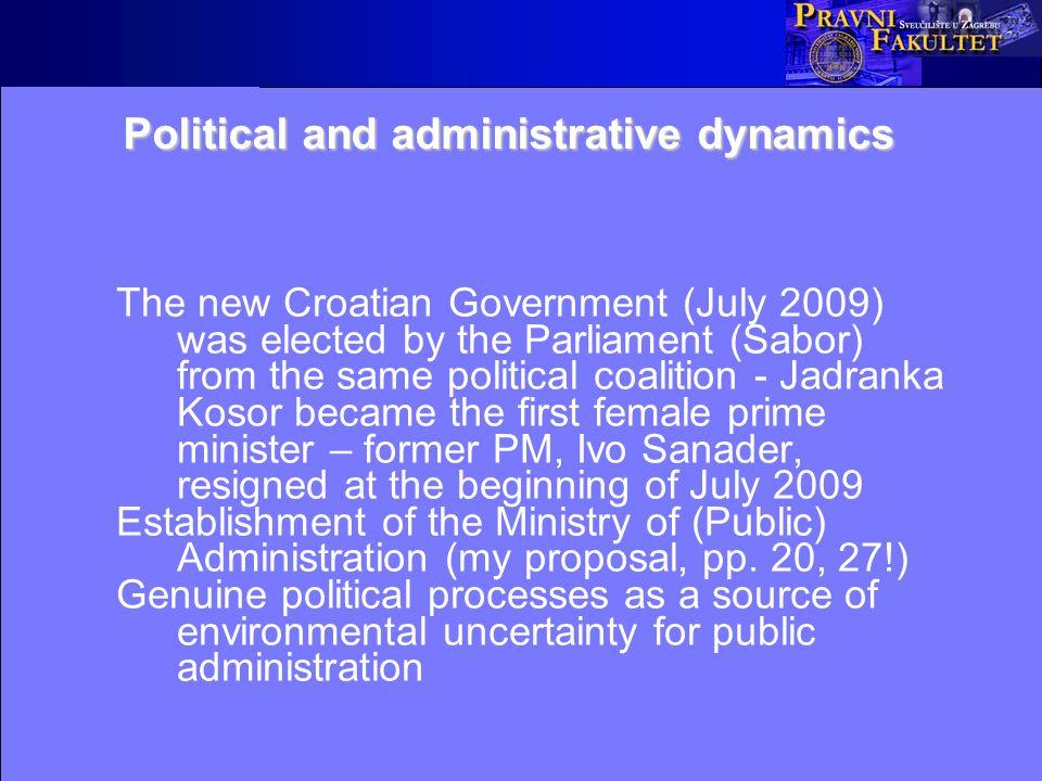 Croatian public administration development I.