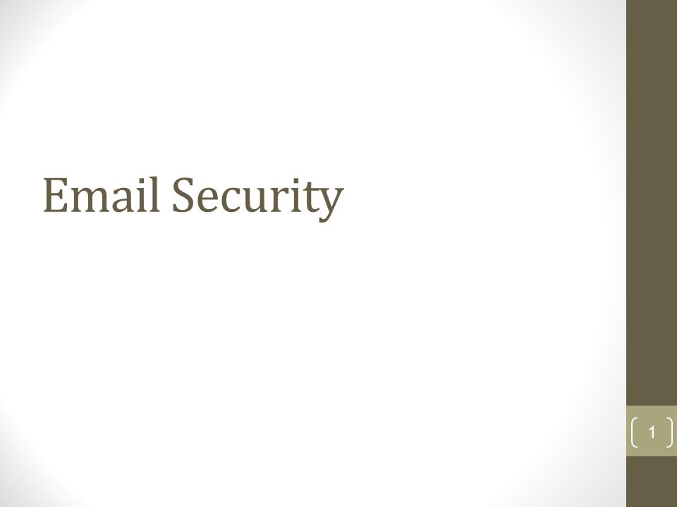 Email Security 1