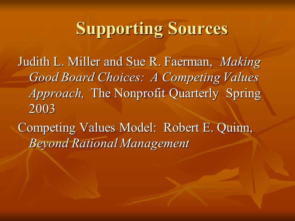 Supporting Sources Supporting Sources Judith L. Miller and Sue R.