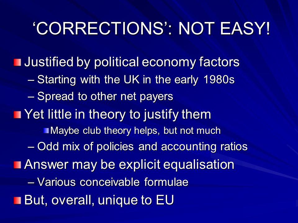 'CORRECTIONS': NOT EASY. 'CORRECTIONS': NOT EASY.
