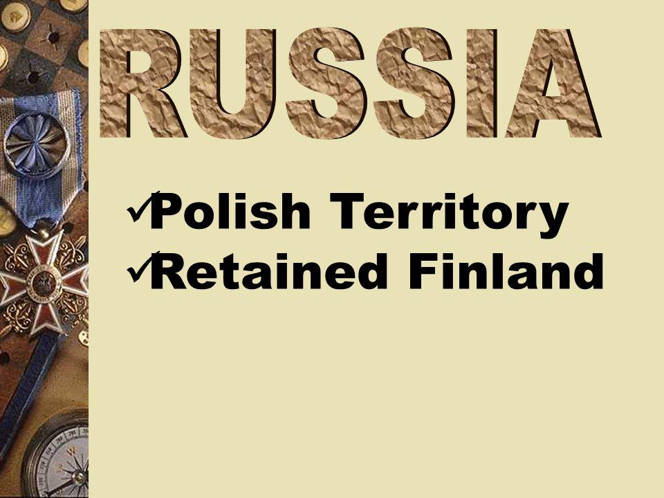 Polish Territory Retained Finland