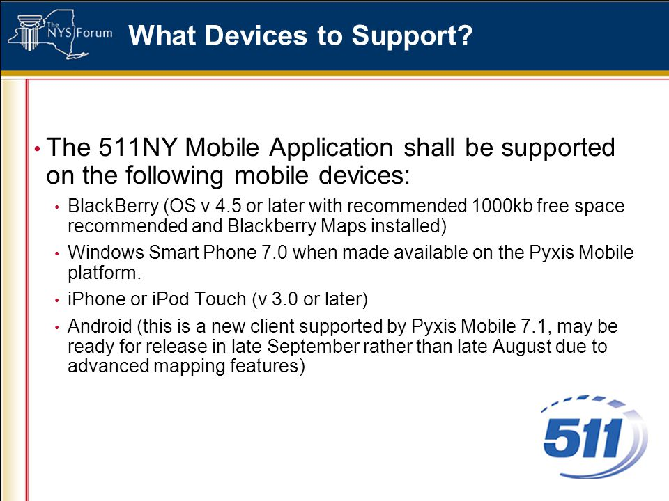 What Devices to Support.