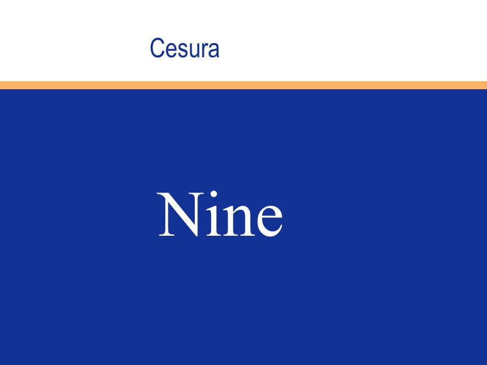 Cesura Nine