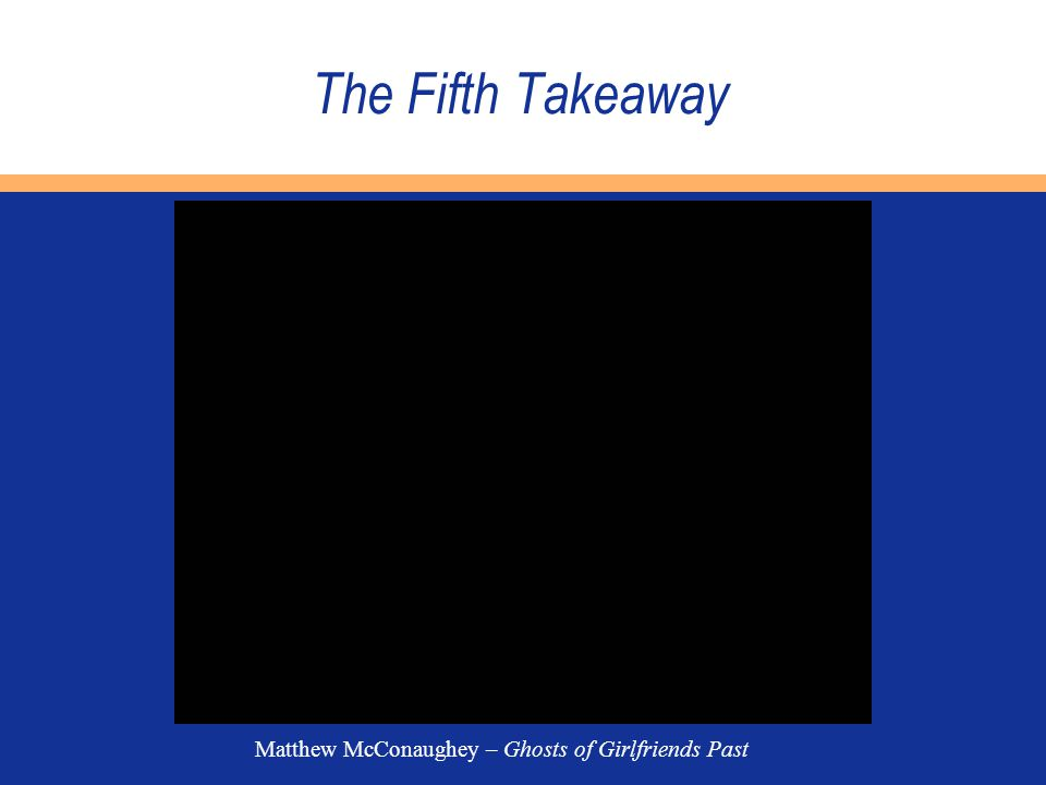 The Fifth Takeaway Matthew McConaughey – Ghosts of Girlfriends Past