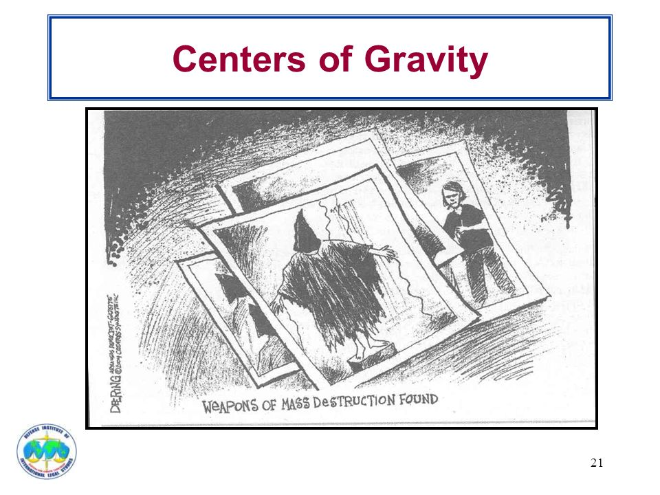 Centers of Gravity 21