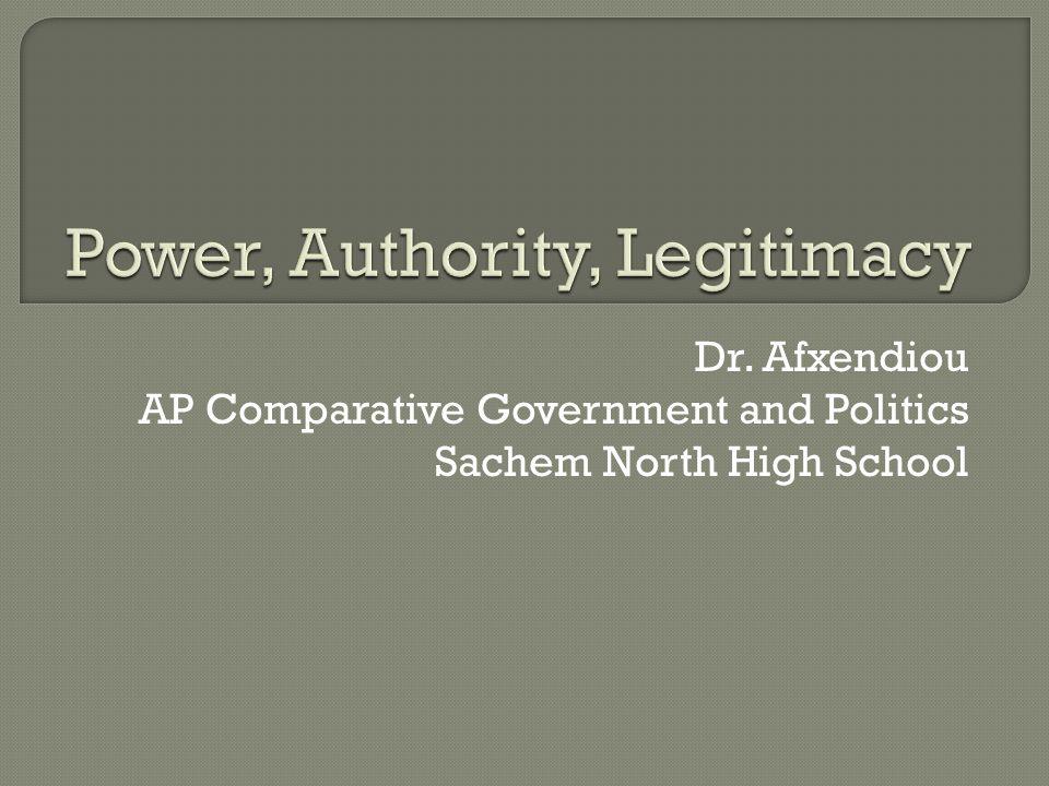 Dr. Afxendiou AP Comparative Government and Politics Sachem North High School