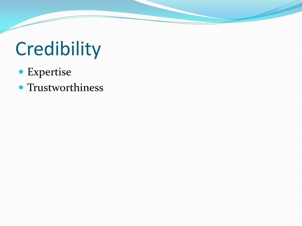 Credibility Expertise Trustworthiness
