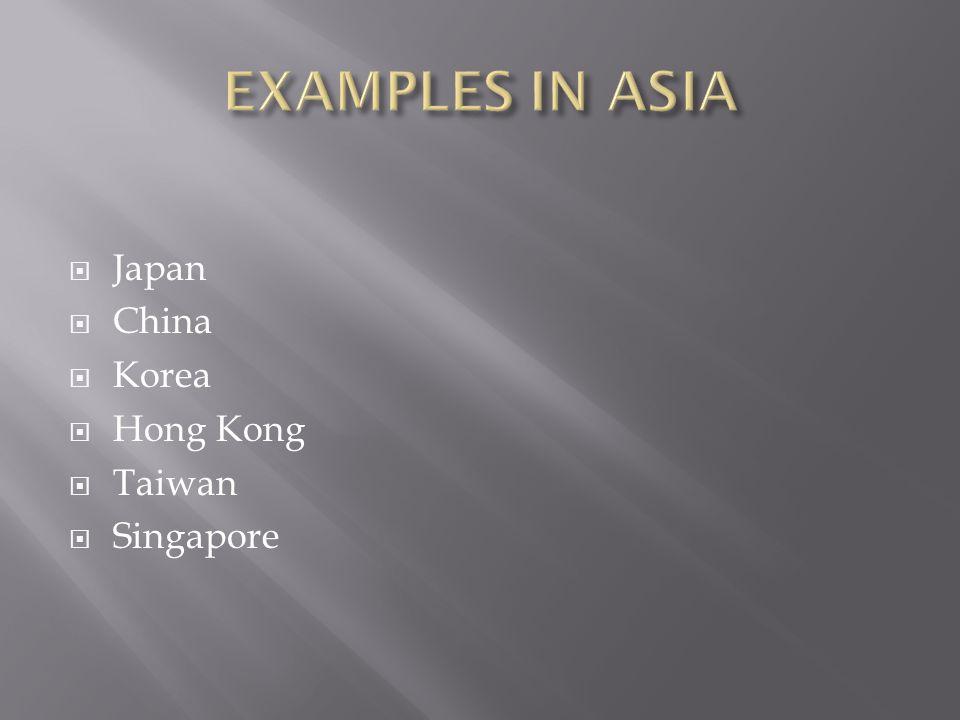  Japan  China  Korea  Hong Kong  Taiwan  Singapore