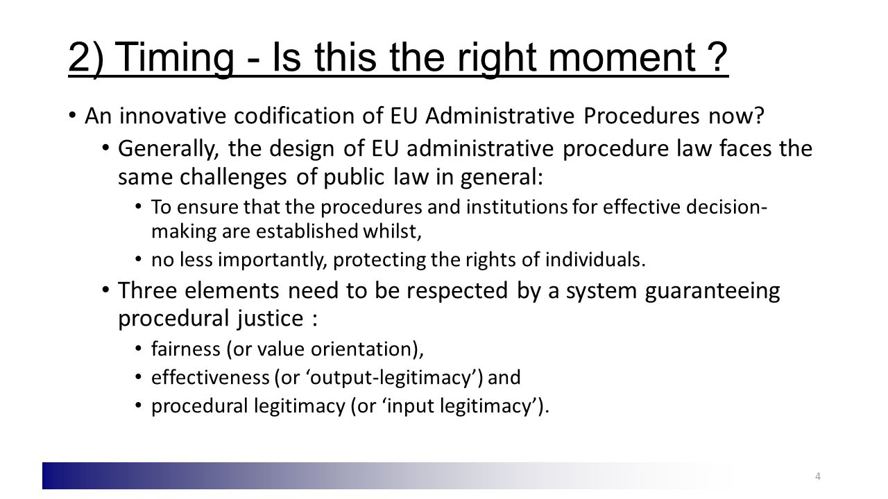 3) Codification of what.