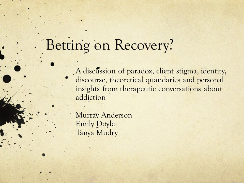 Betting on Recovery.
