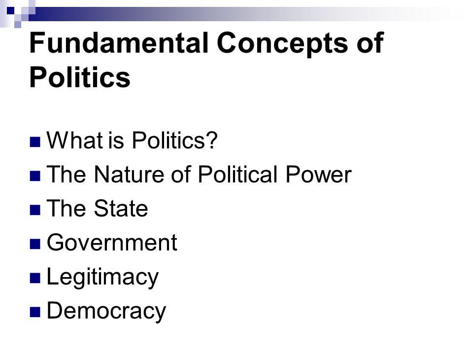 Fundamental Concepts of Politics What is Politics.
