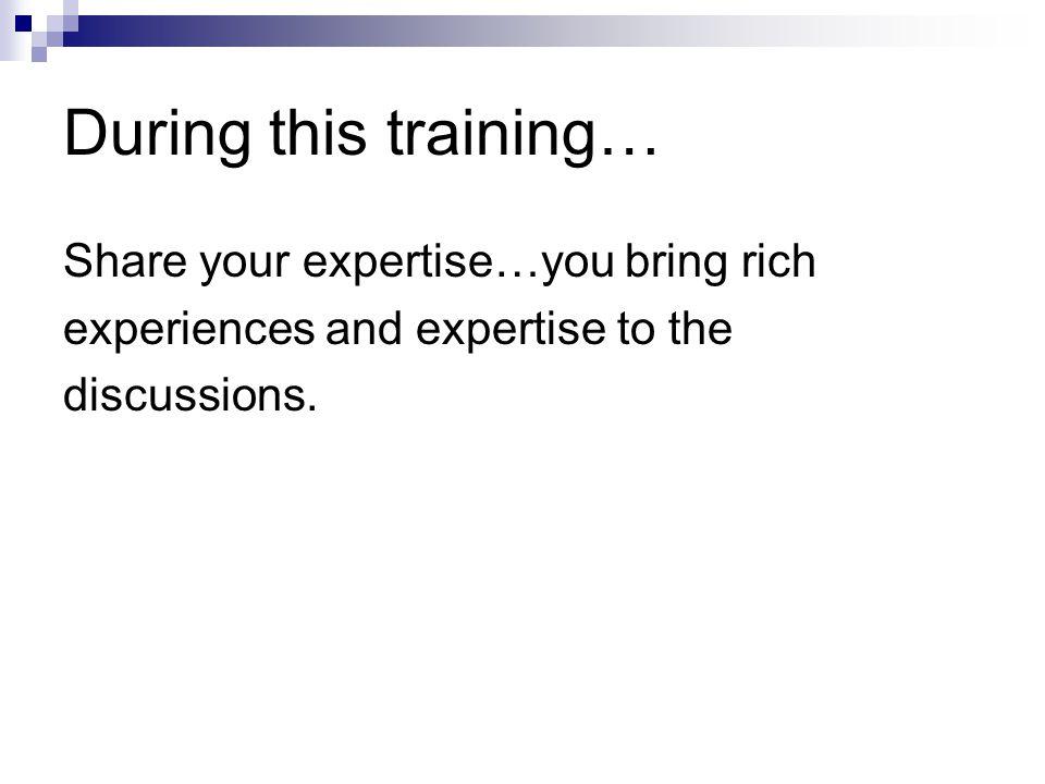 This training…..