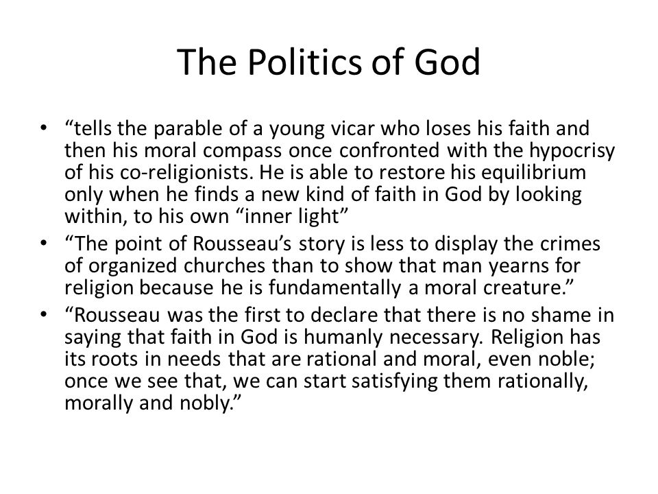 """The Politics of God """"tells the parable of a young vicar who loses his faith and then his moral compass once confronted with the hypocrisy of his co-re"""