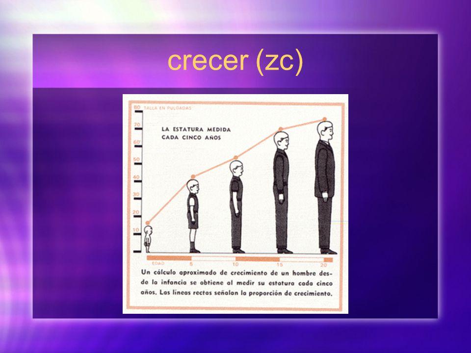 crecer (zc)