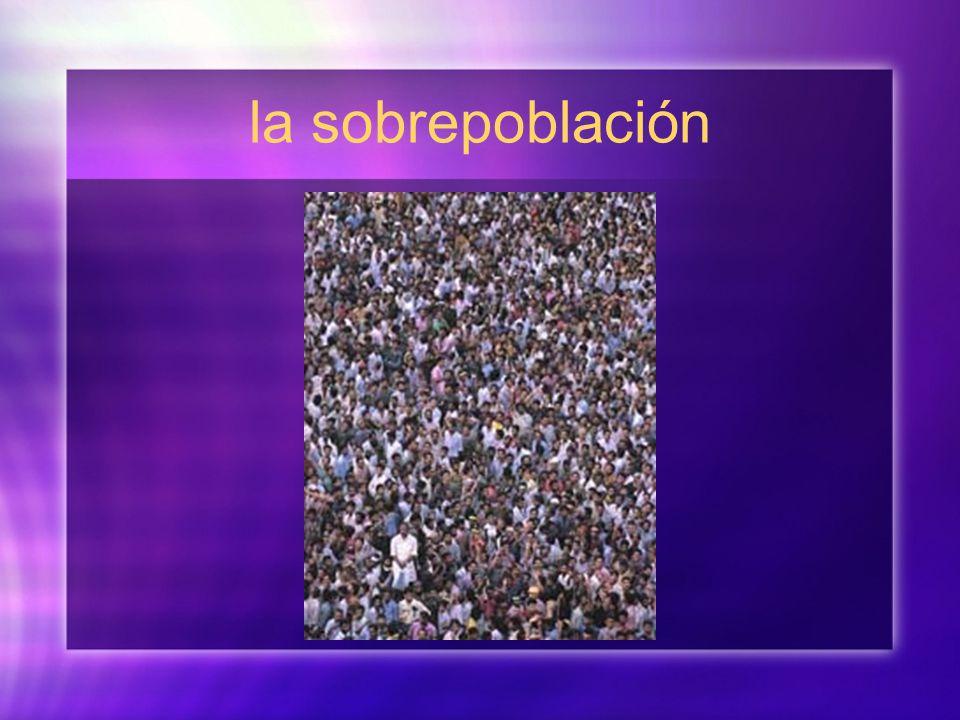 la sobrepoblación