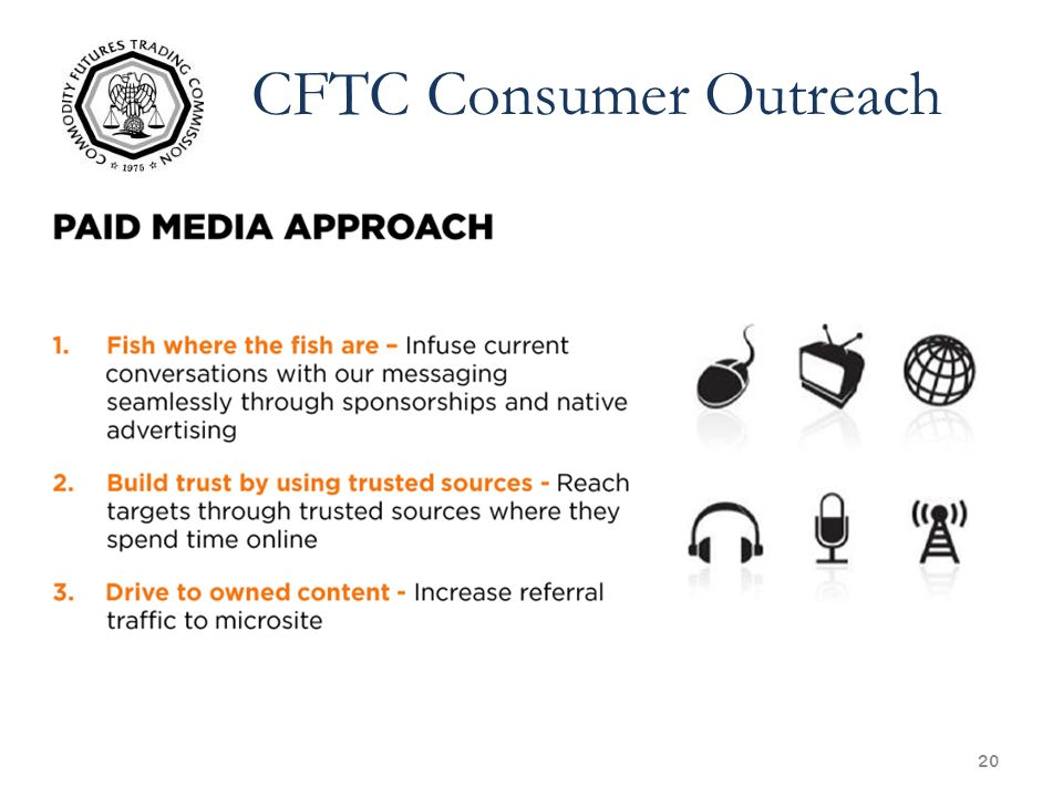 20 CFTC Consumer Outreach